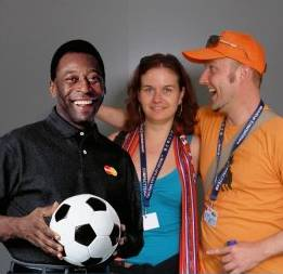 Gabe and me with Pelé
